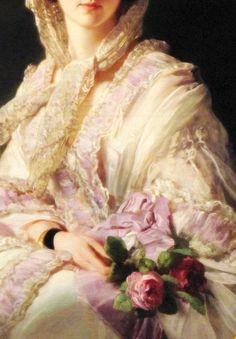 Princess Olga von Württemberg (1856) (Detail)  Franz Xaver Winterhalter (1805–1873)  oil on canvas