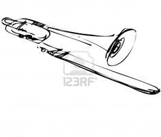 abstract trombone tattoo - Google Search