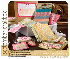 Sprinkles box by Websters Pages