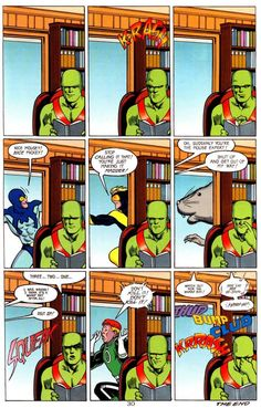 Martian Manhunter, Blue Beetle & Booster Gold, Guy Gardner! scans_daily | Booster's Phobia