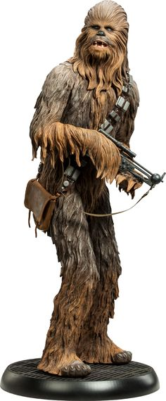 "Sideshow Collectibles Star Wars Chewbacca Premium Format™ Figure (23"" tall!) ~ ""Long-requested by Star Wars collectors, everyone's favorite walking carpet features intricately-sculpted fur & Chewie's signature satchel, crafted in simulated leather. With his trademark bowcaster at the ready, the Sideshow Collectibles Chewbacca Premium Format Figure makes it clear that it's not wise to upset this Wookiee."" ~ New: $384.99 ~ Limited Edition: TBD"