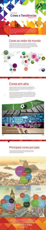 Infográfico traz cores mais procuradas em imagens baixadas este ano