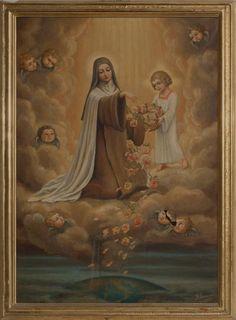 Saint Therese of Lisieux Catholic Art, Catholic Saints, Roman Catholic, Sainte Therese De Lisieux, Ste Therese, Religious Images, Religious Art, Painting, Prayer Cards