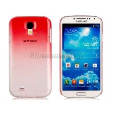 Läpikuultava vesipisara suojakotelo Samsung Galaxy S4, punainen