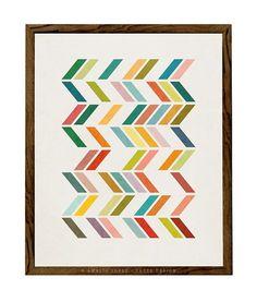 Slanted 3. minimalist abstract art Geometric print by LatteDesign