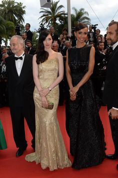 French actress Sarah Barzyk wearing Charriol St-Tropez watch, along with French actress and Director Sonia Rolland (Miss France Sonia Rolland, Cannes Film Festival 2015, Charriol, French Actress, Bridesmaid Dresses, Wedding Dresses, Best Sellers, Dressing, Woody Allen