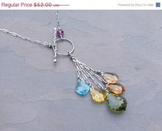 30% Off Year End Sale Cascades - Handcrafted Sterling Silver and Swavorski Crystal Necklace on Etsy, $36.40