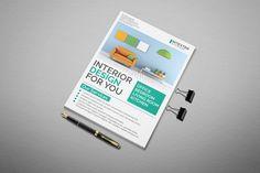 Interior Design Flyer by Modern Studio on @creativemarket