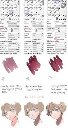 Here are the brushes I use for painting in Paint Tool Sai.I originally made this for :iconKimikii: but decided why not share it with everyone els. Brush Settings and Tutorial Digital Painting Tutorials, Digital Art Tutorial, Painting Tools, Art Tutorials, Drawing Tutorials, Painting Art, Skin Drawing, Drawing Tips, Texture Drawing