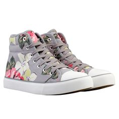 Richmond Rose Quilted Hightop Plimsoles | Cath Kidston |