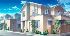 Anime scenery- building
