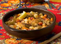 Slow Cooker Moroccan-Style Chicken & Potato Stew