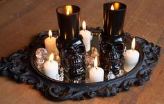 Best DIY Halloween Candles Of 2018 There are different kinds of halloween decorations happen during the halloween season. Here are some amazing ideas of decorating DIY halloween candles for you, Lets take a look on it! Halloween Table Centerpieces, Halloween Candles, Diy Halloween Decorations, Centerpiece Ideas, Christmas Decorations, Halloween House, Halloween Crafts, Halloween Ideas, Halloween Stuff