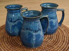 Ceramic tankard with blue and green glazes, handmade by Jason Hooper Pottery Chilled Beer, Margarita Glasses, Pottery Mugs, Shot Glasses, Glaze, Blue Green, Ceramics, Beverage, Coffee Mugs