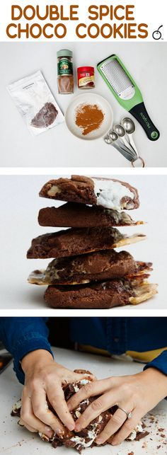 Aleppo and nutmeg team up with chocolate and homemade marshmallows for this easy rocky road cookie.