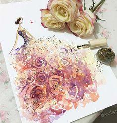 Ilustrações de moda com esmaltes por Chan Clayrene | Just Lia