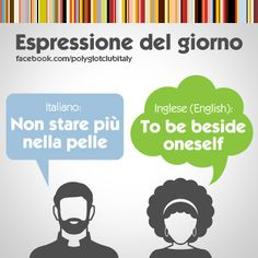 English / Italian idiom: To be beside oneself