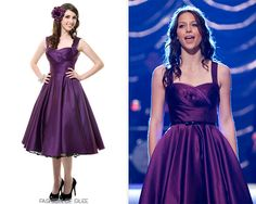Glee Season 4 Regionals Dress - Unique Vintage Eggplant Satin Happily Ever After Pleated Swing Dress