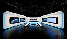 An architecture & design office founded by Stuart A. Research-based studio with a wide spectrum of competence. Tv Set Design, Stage Design, Virtual Studio, Media Wall, Stage Set, News Studio, I Cool, Decoration, Futuristic