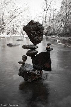 Les pierres en équilibre de Michael Grab