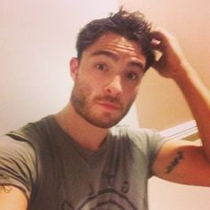 When he rocked that just-outta-bed-feelin-sexy selfie: | 27 Times Life Was Better Because Ed Westwick Exists