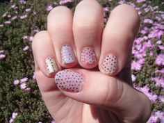 different color glitter on each nail
