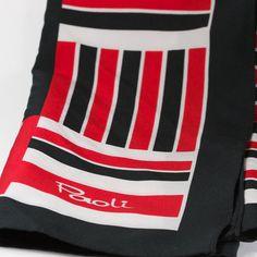 Vintage Paoli Designer Scarf Red Black and by TwiceBakedVintage, $12.00