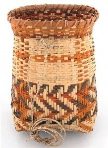 """Crystal Bridges Blog: A CHANGE-OUT OF BASKETS IN """"PEOPLE AND PLACES"""" Shawna Cain's River Cane Basket (river cane, natural dyes, string, 2006) on loan from the Cherokee Heritage Center crystalbridges.org"""