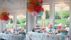grad party dessert table