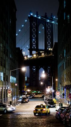 """DUMBO"" - Down Under the Manhattan Bridge, Brooklyn, NYC New York City Travel Honeymoon Backpack Backpacking Vacation Photo New York, New York City Photos, Manhattan Bridge, Brooklyn Bridge, Brooklyn Nyc, Williamsburg Brooklyn, Brooklyn Night, Williamsburg Bridge, Manhattan Nyc"