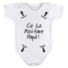 Body per neonato personalizzato Ce la puoi fare papà