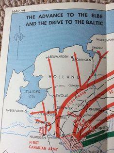 Elbe advance to Baltic 1945 Strategic Map Montgomery  | eBay