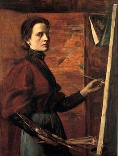 Self Portrait - Elizabeth Nourse (American, 1859-1938)