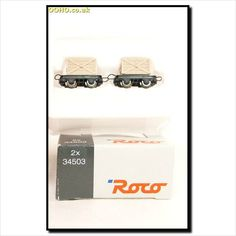 ROCO 34503 - TWO Narrow Gauge Open Wooden box wagons ( Twin Pack ) on eBid United Kingdom