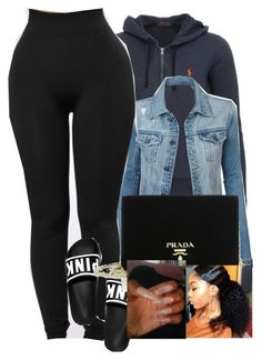 """""""3/26/17"""" by monet-princessa ❤ liked on Polyvore featuring Polo Ralph Lauren, LE3NO and Prada"""
