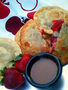 Strawberry Cookie Dough Empanadas