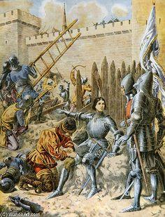 Jeanne d Arc au siège de Paris | Frederic Theodore Lix (1830-1897, France)