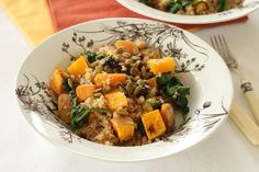 Quinoa with Butternut Squash and Pumpkin Seeds.  Can't get enough squash lately.