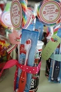 Candy Land Theme: The goodie treats: HOW CUTE...I just love the toothbrush..