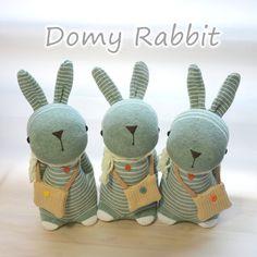 Grace -- sock bunny Domy Rabbit #handmade #craft #sockdoll Sock Bunny, Sock Dolls, Sock Animals, My Socks, Bunnies, Dinosaur Stuffed Animal, Rabbit, Holidays, Christmas Ornaments