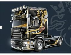 The 1/24 Scania R730 V8 Topline Imperial Model Kit from the plastic truck model kit range accurately recreates the real life vehicle. This model requires paint and glue to complete.