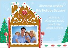 Photo Gingerbread house card