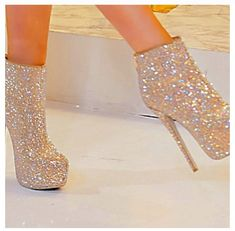 Glitter boot heels- seriously, you can NOT go wrong with glitter!