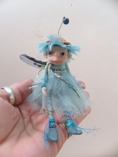 baby blue sugar plum pixie fairy by Dinkydarlings