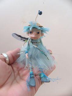 baby blue sugar plum pixie fairy by Dinkydarlings