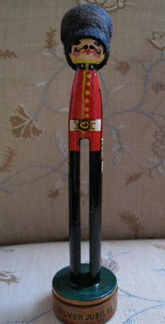 The Queen's Silver Jubilee Clothespin Soldier by magpiesfancyshop, $12.00