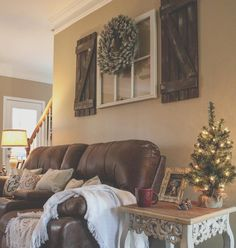 See this photo by Bethany Cochran gallery wall above couch DIY decor barnwood handmade shutters farmhouse christmas pallet project diy farmhouse decor christmas decor rustic reclaimed wood repurposed window decor Decoration Shabby, Diy Home Decor Rustic, Country Farmhouse Decor, Handmade Home Decor, Farmhouse Style, Country Living, Modern Farmhouse, Modern Rustic, Rustic Style