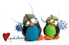 (5) polymer clay toys & miniatures