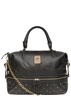 Kardashian Kollection Black Large Stud Tote