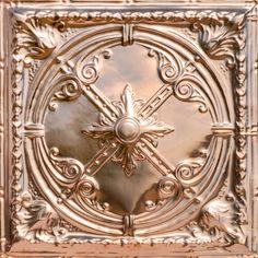 """Decorative Ceiling Tiles, Inc. Store - Compass Rose - Copper Ceiling Tile - 24""""x24"""" -"""